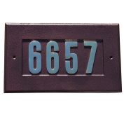 QualArc ADD-1410-AC Manchester Address Plate w/3 gold brass numbers (numbers included) in Anti