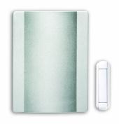 Heath Zenith Wireless Battery Operated Door Chime Kit, Satin Nickel Finish