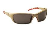 SAS Safety 542-0101 Gold Frame Shade Lens Safety Glasses