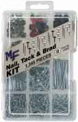 Midwest Fastener 14995 1345-Piece Nail, Tack, and Brad Assortment Kit