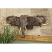 Design Toscano Raised Expectations Elephant Wall Sculpture