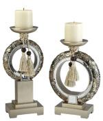 Ore International Inc. 2.2cm Chrysanthemum Candle Holder Set