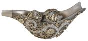 Ore International Inc. 50cm Silver Vine Decorative Bowl with Spheres