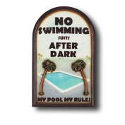 RAM Gameroom Products ''No Swimming Suits'' Outdoor Sign