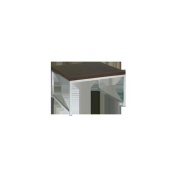 Avenue 6 - Office Star WST17 Wall Street 28 in. Accent-Corner Table - Espresso