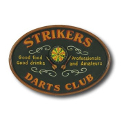 RAM Gameroom Products Hand-Carved Strikers Darts Sign