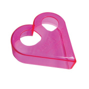 Ginsey Sandwich Cutters Love Bites Translucent in Bright Pink