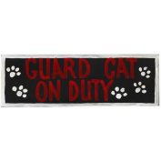 RAM Gameroom Products Guard Cat on Duty Wall Sign