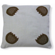 New Spec Inc Embroidery Pamego Pillow in Brown