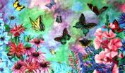 Custom Printed Rugs Butterflies Doormat