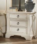 American Woodcrafters Heirloom 3 Drawer Nightstand