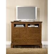 American Woodcrafters Bradford 6 Drawer Entertainment Chest