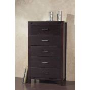 Modus Furniture International Nevis 5-Drawer Chest, Espresso