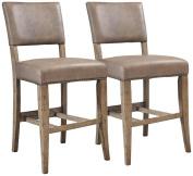 Hillsdale Furniture Charleston Parson Non-Swivel Counter Stool in Distressed Desert Tan