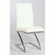 Chintaly Imports JADE-SC Z-Shape Frame Contemporary Upholsted Side Chair - Unit of 4