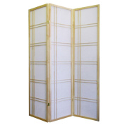 ORE International Girard 3-Panel Room Divider, Natural