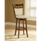 Hillsdale Furniture Jefferson 118.7cm Swivel Bar Stool, Brown Cherry Finish