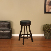 American Heritage Designer Stool in Sierra with Black Leatherette