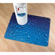 Floortex Colortex UltiMAT Photo Polycarbonate Smooth Back Chairmat for Hard Floors and Low Pile Carpets, 90cm x 120cm Drops Design