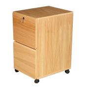 Rush Furniture Modular Real Oak Wood Veneer 2-Drawer Mobile File Cabinet