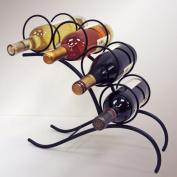 J & J Wire 4-Bottle Wine Arch