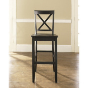 Modern Marketing CF500430-BK X-Back Bar Stool in Black Finish with 30 Inch Seat Height.
