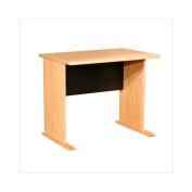 Rush Furniture Modular Real Oak Wood Veneer Furniture Desk Shell in Oak