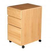 Rush Furniture Heirloom 3-Drawer Mobile File Cabinet