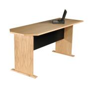 Rush Furniture Modular Real Oak Wood Veneer 29.5 H x 180cm W Desk Peninsula
