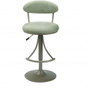 Hillsdale Furniture Venus Adjustable Swivel Bar Stool, Champagne Metallic Powder Coat Finish
