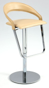 Chintaly Imports Curved Back Adjustable Height Reg. Leather Stool