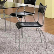 Chintaly Imports DAISY-SC Modern Slim Back Upholstered Side Chair - Unit of 4