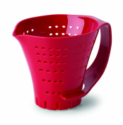 Chef's Planet Three Cup Measuring Colander in Red