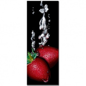 "Trademark Fine Art ""Strawberry Splash"" Giclee Canvas Art"