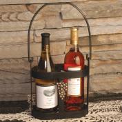 J & J Wire Strap Iron Wine Caddy