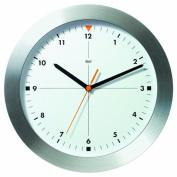 Bai Design Brushed Aluminium Wall Clock Formula One in White