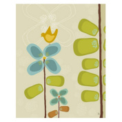 Green Leaf Art YS291010bC Green Leaf Canvas Art Bird on Flower 1