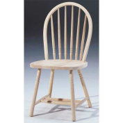 International Concepts Unfinished Junior Windsor Spindleback Chair