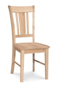 International Concepts C-10P San Remo Slat Back Chair, Ready To Finish