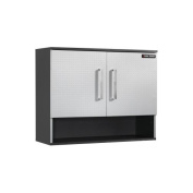 Black & Decker 80cm . Silver Wall Cabinet