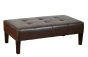 4D Concepts 550070 Large Faux Leather Coffee Table in Brown