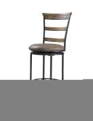 Hillsdale Furniture Charleston 106.7cm Ladder Back Swivel Counter Stool, Desert Tan Finish