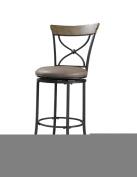 Hillsdale Furniture Charleston 113cm X-Back Swivel Bar Stool, Desert Tan Finish
