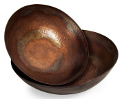 Imax 60009-2 Copper-Plated Bowls - Set of 2