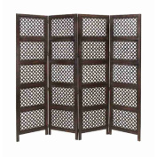 UMA Enterprises Loft Wood 4 Panel Screen
