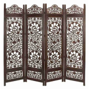 UMA Enterprises Metro Wood 4-Panel Screen