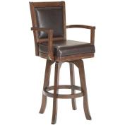Hillsdale Furniture Ambassador 118.1cm Swivel Bar Stool, Rich Cherry Finish