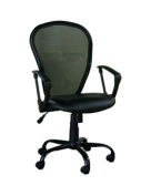 Mesh Office Chair with Arms, Black