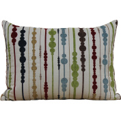 Better Homes and Gardens Circles Stripes Multi-Coloured Oblong Pillow