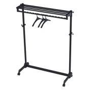 Modern Mobile ALBA Garment Rack With 3 Hangers - Black
